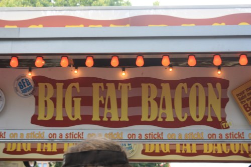 Big Fat Christy did not partake in any Big Fat Bacon. Admittingly I stood in line for a few minutes but chickened out. I love bacon and didn't want bacon-regret.